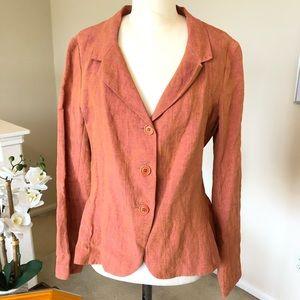 LILITH orange linen jacket - rare!